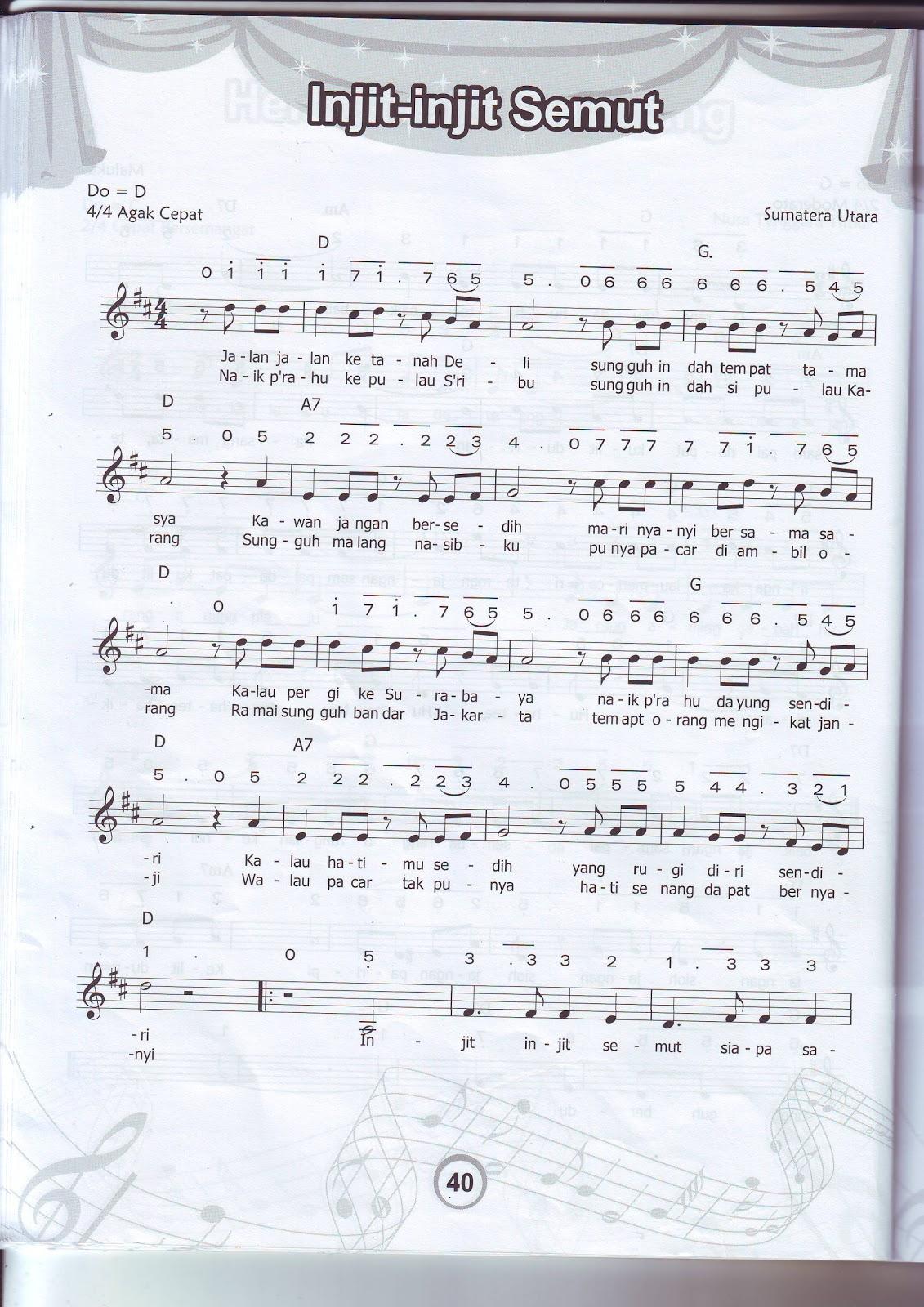Lagu Daerah Injit Injit Semut