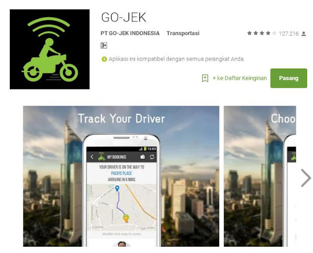 Please install this gojek application at androidmu.