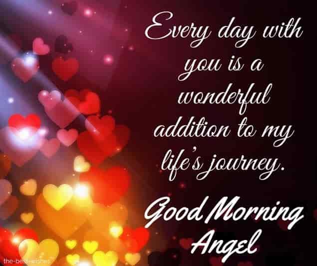 good morning angel poems for her