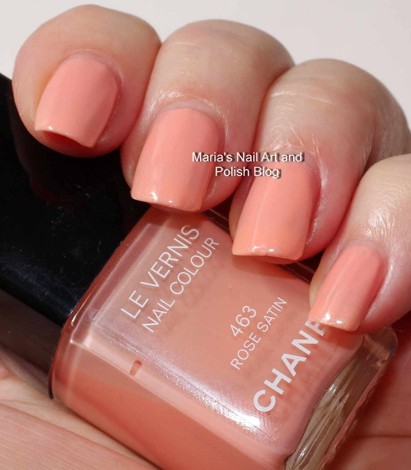 Marias Nail Art And Polish Blog Chanel Rose Satin 463 Aurora Blues Accent Coll Swatches