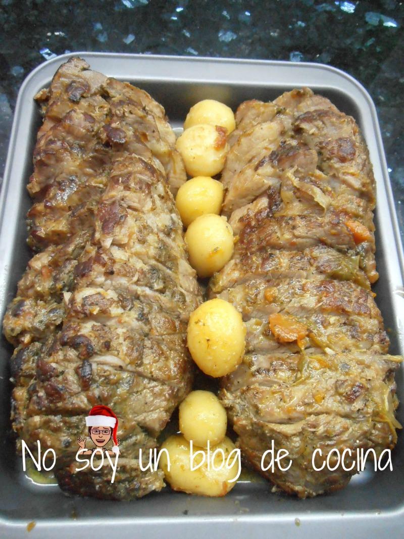 Rotis de cerdo con patatas parisinas