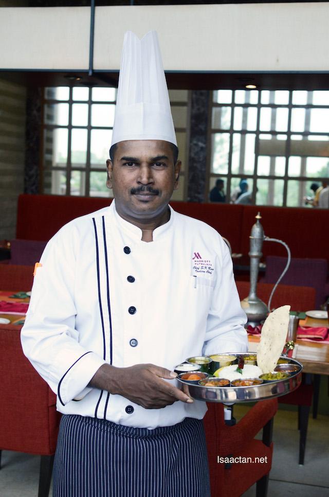 Indian Chef Koteswa Rao showcasing his culinary delights
