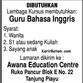 Lowongan Kerja Bimbingan Belajar Awana eduction Centre