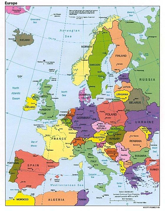 Danmarkskort Byer Billede Kort Over Europa Billede
