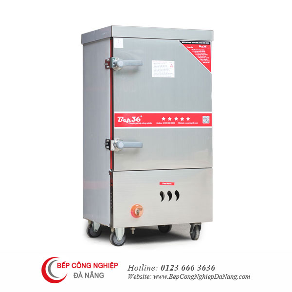 Tủ nấu cơm công nghiệp 8 khay dùng gas