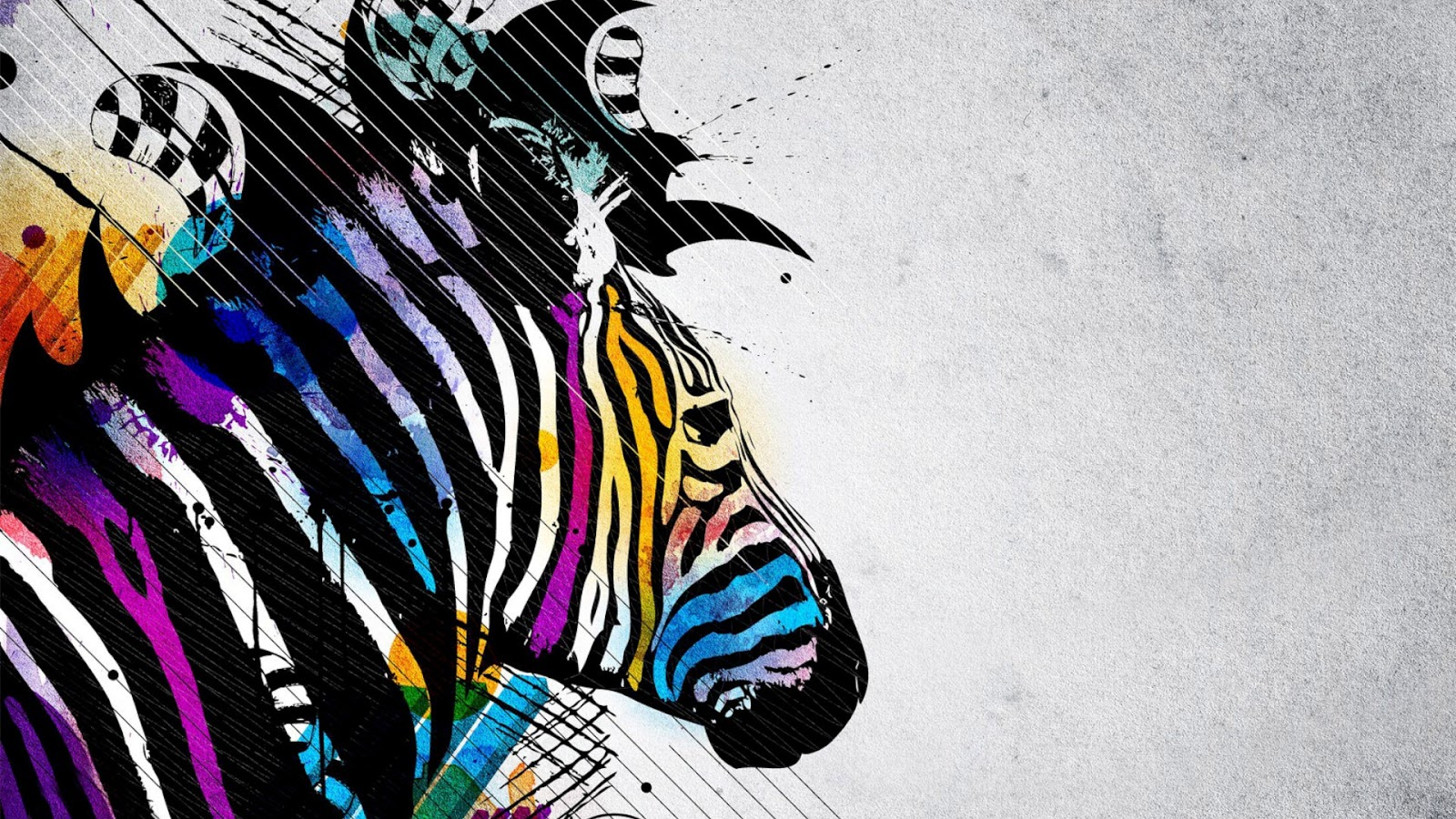 Colorful Zebra Character Vector Art Design