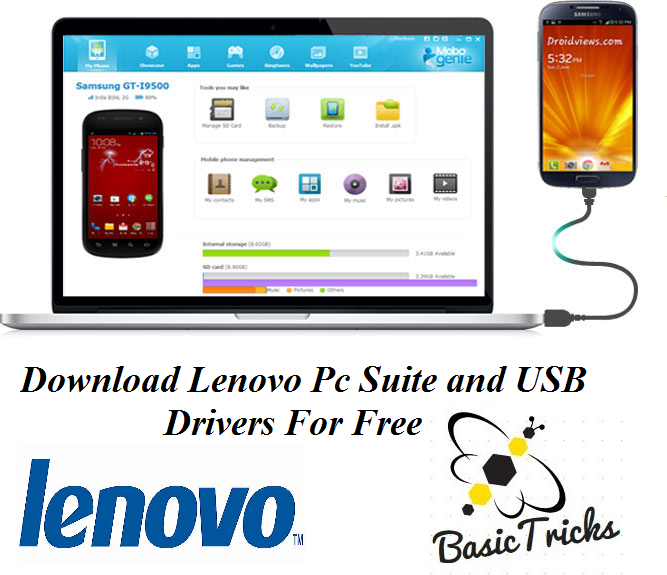 Lenovo PC Suite and USB Drivers Free Download - Basictricks