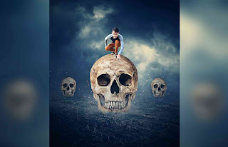 Picsart Editing Boy On Skull Dangerous Photo Manipulation