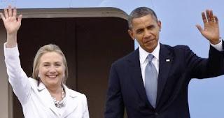 Obama en campaña apoyando, respaldando su compañera demócrata camino a la presidencia de Estados Unidos