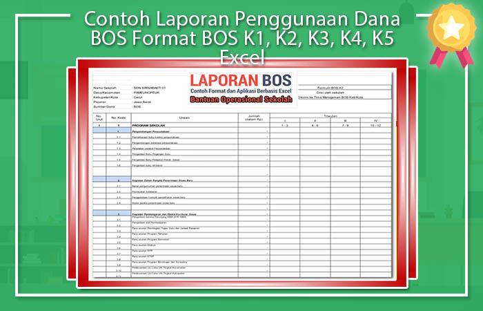 Contoh Laporan Penggunaan Dana BOS Format BOS K1, K2, K3, K4, K5 Excel