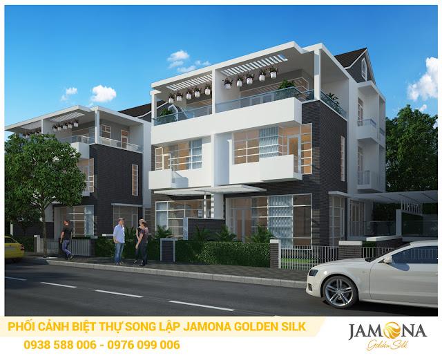 Thiết kế phối cảnh nhà biệt thự song lập dự án Jamona Golden Silk quận 7