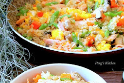 Salmon Quinoa Fried Rice
