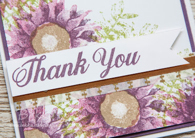 Purple Painted Harvest Thank You Card - buy the Stampin' Up! UK supplies you need for this card here