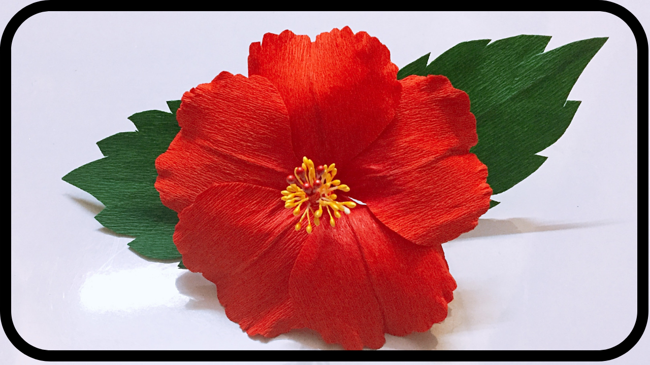 How To Make A Paper Hibiscus Flower Paper Jaswandi Paper Shoe Flower