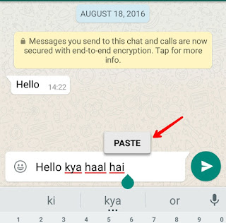 how to create read more messages on WhatsApp