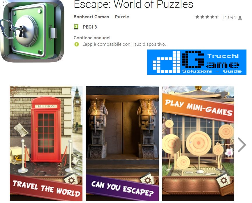 Soluzioni Escape: World of Puzzles