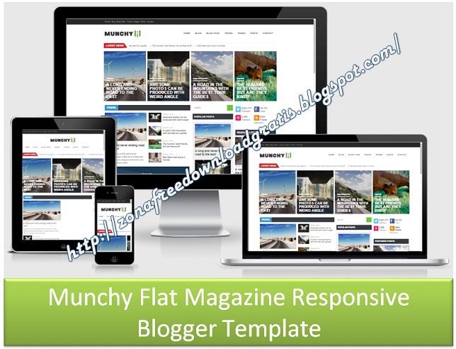 Munchy Flat Magazine Responsive Blogger Template