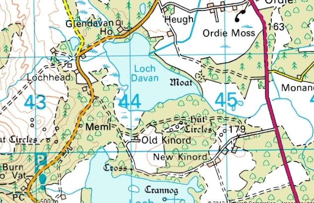 Map of Muir of Dinnet