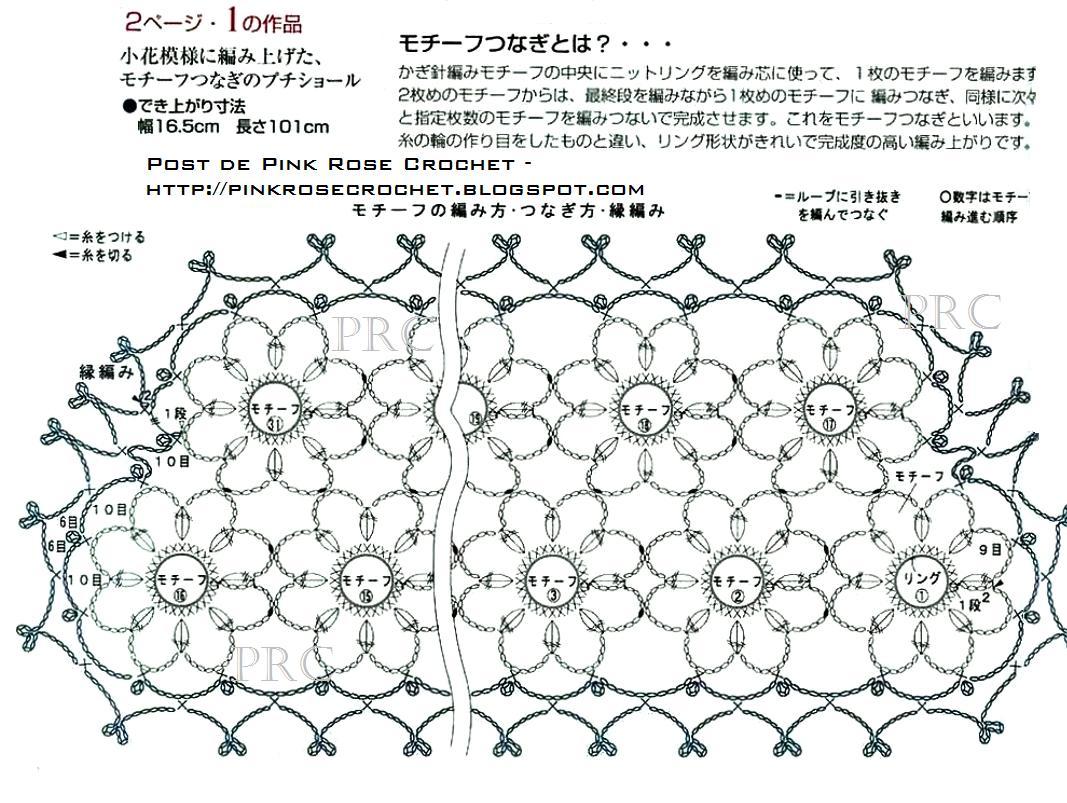 Ergahandmade Crochet Scarf Diagram