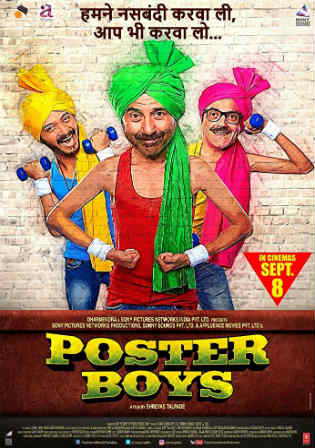 Poster Boys 2017 DVDRip 350MB Hindi Movie 480p Watch Online Full Movie Download Free bolly4u