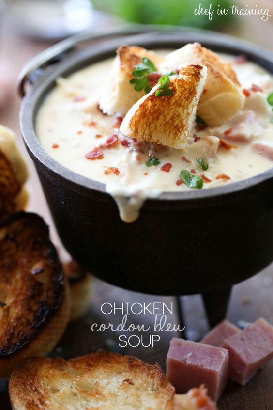 Chicken Cordon Bleu Soup #chicken #chickenrecipes #bleu #bleusoup #cordon #souprecipes #easysouprecipes