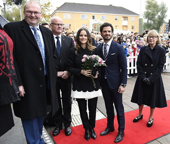 Princess Sofia wore MAYLA Daria Silk Blouse.Mayla Coat. Princess Sofia in Värmland