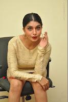 Actress Pooja Roshan Stills in Golden Short Dress at Box Movie Audio Launch  0083.JPG