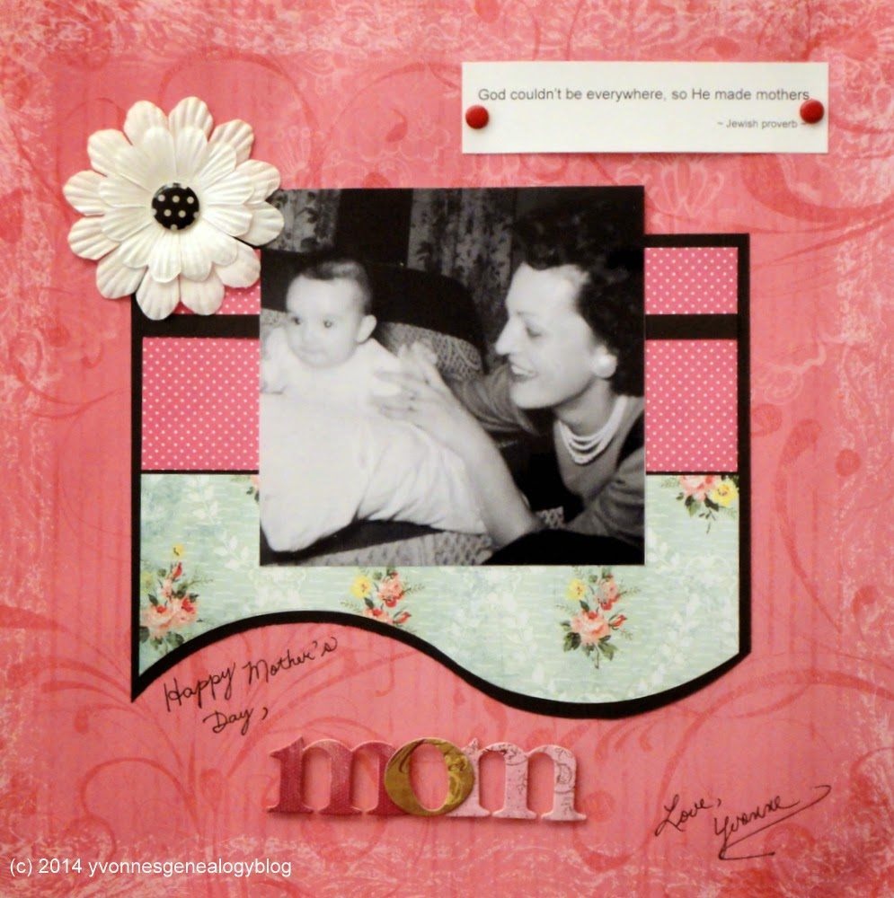 Mother's Day scrapbooking layout
