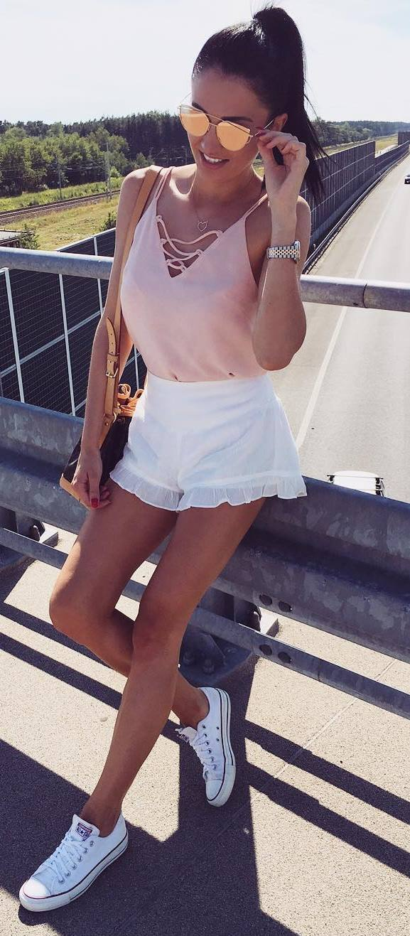 summer outfit: top + shorts