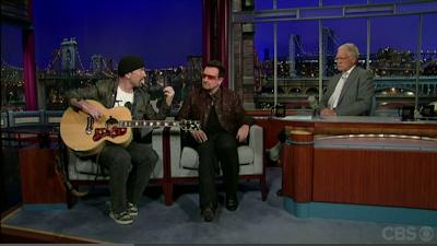 Bono y The Edge han estado en el Show de David Letterman The Late Show Julio 2011