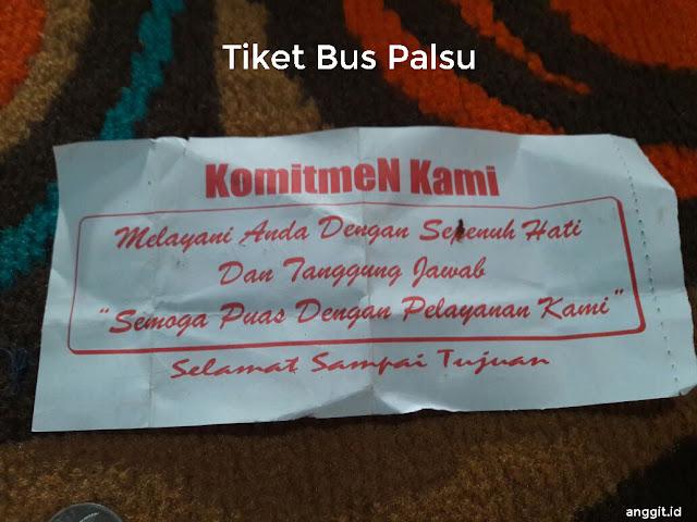 Tiket Bus Palsu Dari Calo
