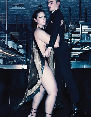 Ashley Graham V Magazine Spread Editorial Lifts Male Model