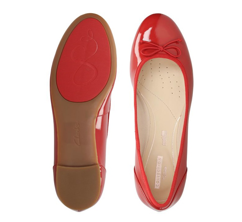 Clarks couture bloom red patent