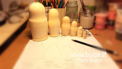matrioske grezze da dipingere