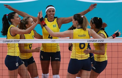 Brazil women volleyball players