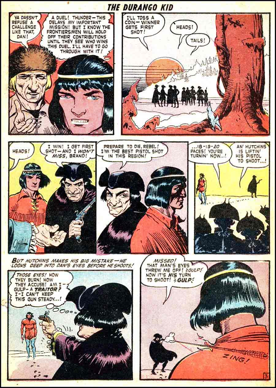 Frank Frazetta 1950s golden age western comic book page / Durango Kid #11