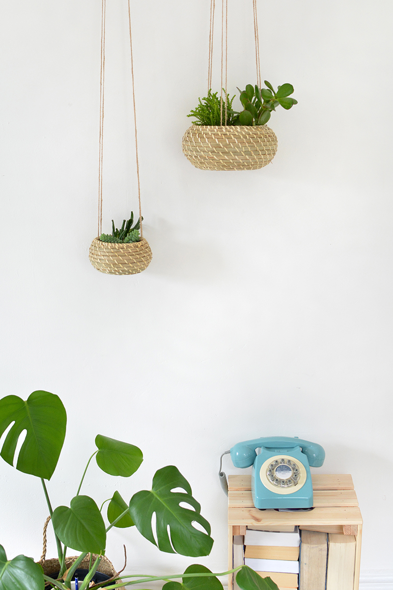 ikea hack, how to make a hanging planter