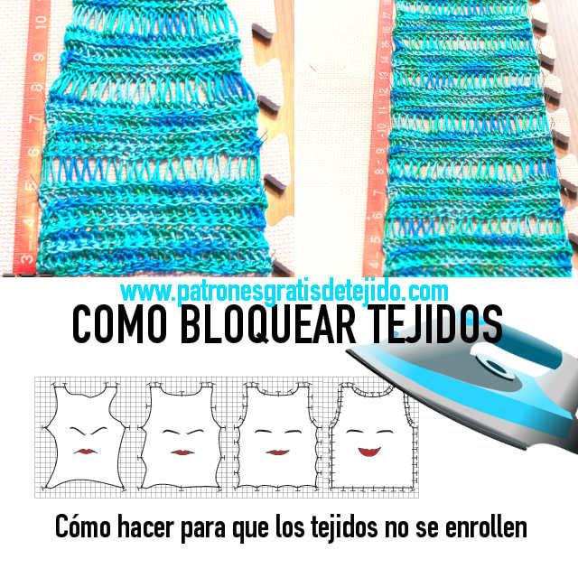 Como bloquear tejidos tutorial
