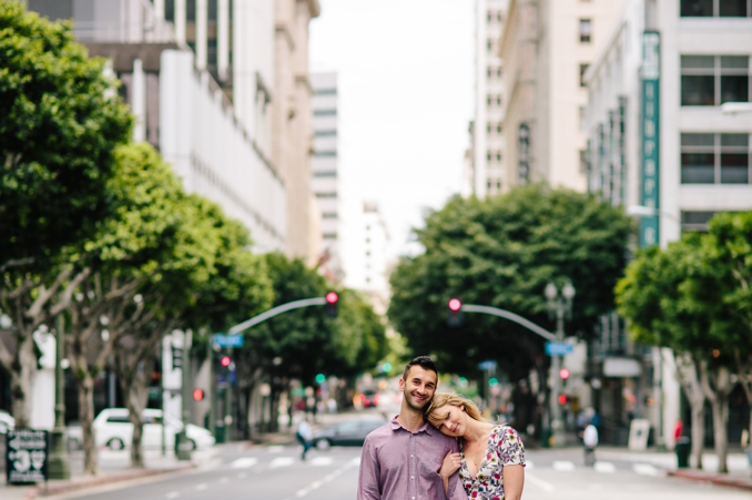 Peter and Sarah's Downtown LA engagement shoot by STUDIO 1208