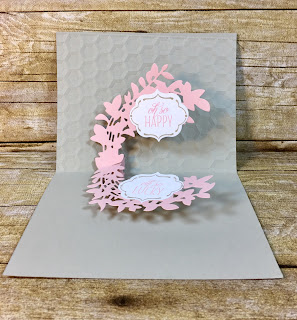 This all occasion card uses Stampin' Up!'s Lovely Friends stamp set and Lovely Laurels Thinlits.  We also used the In Color BItty Bows and Glitter Enamel Dots.  The full supply list is on the blog!  www.stamptherapist.com #stampinup #stamptherapist
