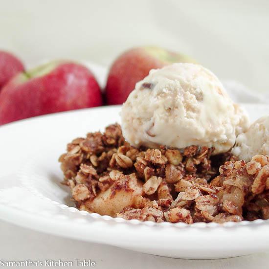 Healthy Apple Walnut Crisp