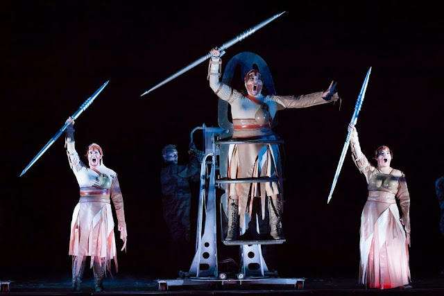 Valkyries in Houston - Natalya Romaniw, Eve Gigliotti, Julie Makerov - Wagner: Die Walkure (Photo Lynn Lane)