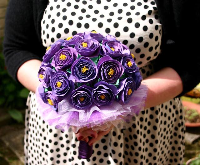 Brautstrauss Papierblumen