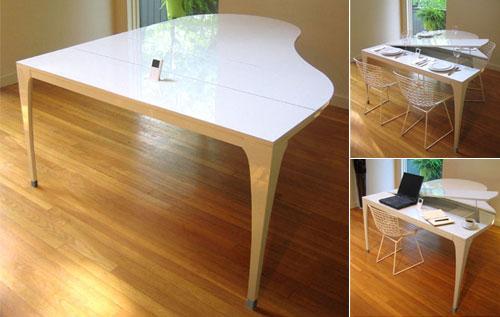 Mesa con forma de piano