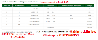 Just200 Income Plan English - How to Earn Process