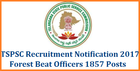 Telangana Forest Beat Officer 1857 Posts Recruitment Notification by TSPSC Syllabus Scheme of Exmaination and Online Application Form | TSPSC Forest Beat Officers Recruitmnet Notification Download Important Dates Syllabus Scheme of Examination Apply Online Hall Tickets Answer Key Results Applications are invited Online from qualified candidates through the proforma Application to be made available on Commission's WEBSITE (www.tspsc.gov.in) to the post of Forest Beat Officer in Forest Department (EFS&T) in the state of Telangana. Aspirants and Eligible Candidates from Telangana State may Fill Online Application Form for the post of FBO Forest Beat Officers in Telangana Forest Department for 1857 Vacancy Posts telangana-tspsc-forest-beat-officer-1857-vacancies-eligibility-syllabus-hall-tickets-answer-key-results