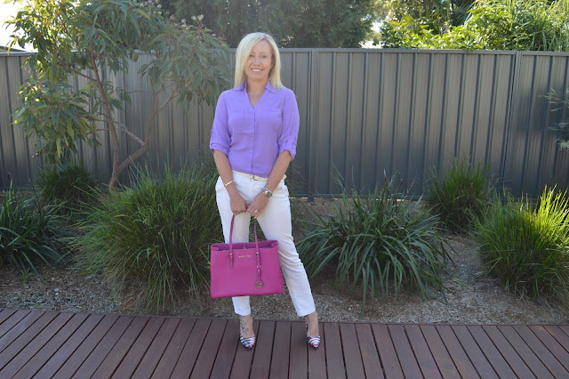Sydney fashion Hunter - The Wednesday Pants #46 - Purple Puffa