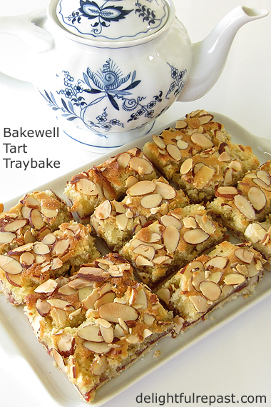 Bakewell Tart Traybake - the quick and easy way to make a Bakewell Tart / www.delightfulrepast.com