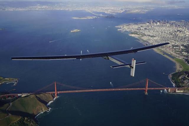 Pesawat Solar Impulse Bertenaga Surya Menyelesaikan Perjalananya