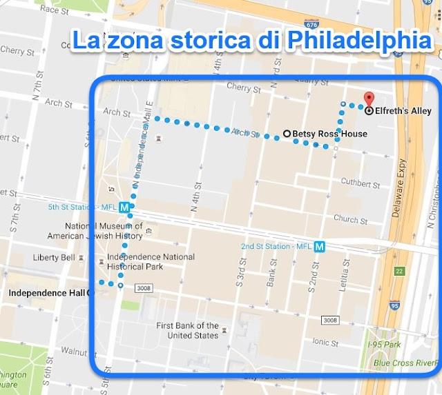 Zona storica di Philadelphia